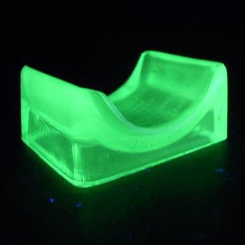 Lillicraps Uranium Green Glass Patented Razor Hone/Sharpener