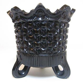 Sowerby #1154.5 Antique Victorian Black Milk Glass Spill Vase - Marked