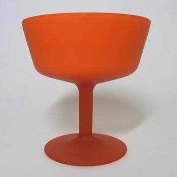 Carlo Moretti Satinato Orange Murano Glass Bowl - Labelled