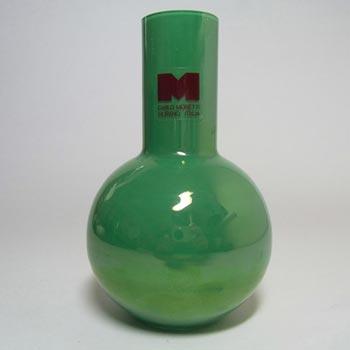 Carlo Moretti Murano Green Glass Vase - Labelled