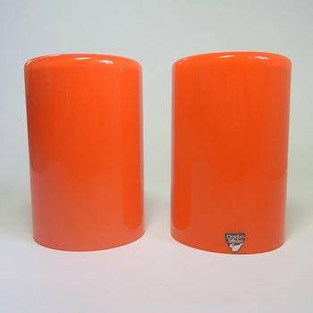 Pair Orrefors Owe Elvén Glass 'Eternell' Candlesticks