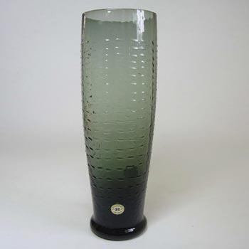 Reijmyre Swedish Smokey Textured Glass Vase - Labelled