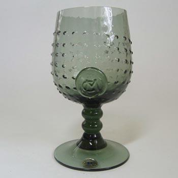 Reijmyre Swedish Smokey Textured Glass Goblet - Boxed