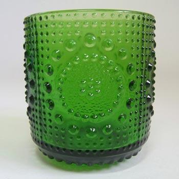 Riihimaki #5065 Riihimaen Nanny Still Green Glass 'Grapponia' Tumbler
