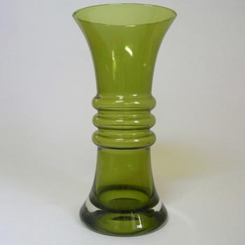 Riihimaki #1565 Riihimaen Aladin Green Glass 'Kielo' Vase