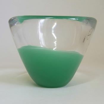 Salviati Murano Green Glass Bowl - Label + Acid Stamped