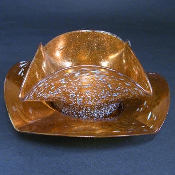 Salviati Aventurine + Granzioli Glass Bowl + Plate Set