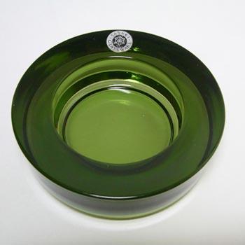 Sasaki Japanese Green Glass Bowl/Votive - Labelled