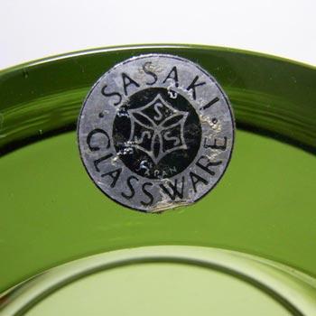 <b>Sasaki</b> glassworks label, reads 'Sasaki Glassware, Japan'