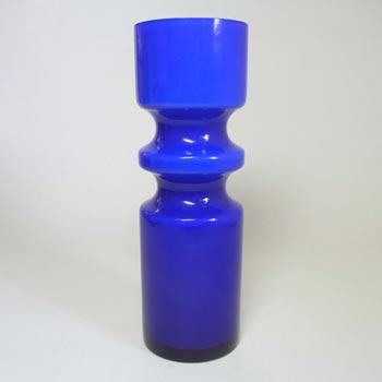 Alsterfors #S5000 Per Olof Strom Blue Cased Glass Vase - Signed