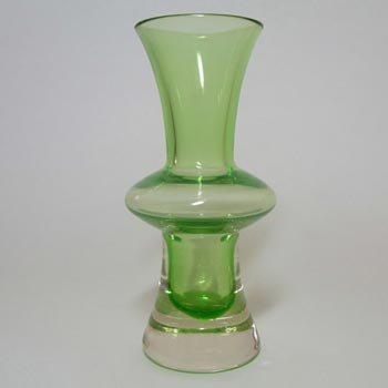 Sea Glasbruk/Kosta 1970's Swedish Green Glass Vase