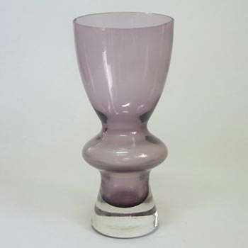 Sea Glasbruk/Kosta 1970's Swedish Purple Glass Vase