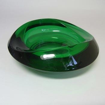 Sklo Union Rosice Green Glass Bowl - Rudolf Jurnikl