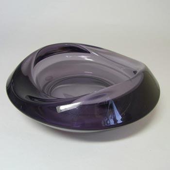 Sklo Union Rosice Purple Glass Bowl - Rudolf Jurnikl