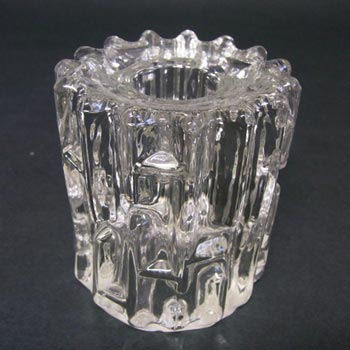 Sklo Union Rudolfova Glass Candlestick Frantisek Vizner
