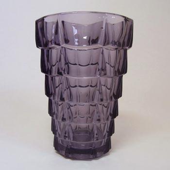 VLG Lausitzer German Purple Glass 'Gent' Vase #51983