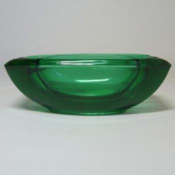Sklo Union Rosice Green Glass Bowl - Vaclav Hanus #5116