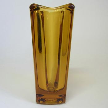 Rosice Sklo Union Amber Glass Vase Jiri Zejmon #472