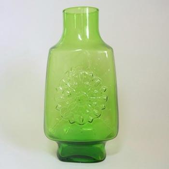 Stelvia Italian 'Opalina Fiorentina' Green Glass Vase