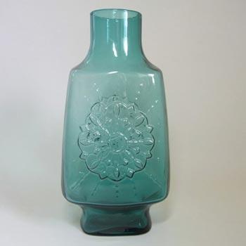 Stelvia Italian 'Opalina Fiorentina' Blue Glass Vase