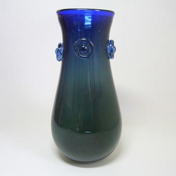 Svoboda Large Czech Blue + Green Glass Vase #0901/26
