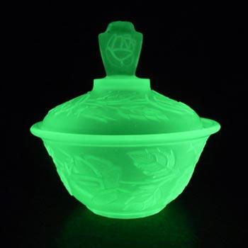 Walther Art Deco Uranium Glass 'Waltraut' Trinket Bowl