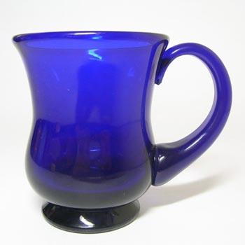 Thomas Webb Stourbridge Bristol Blue Glass Tankard - Acid Stamp
