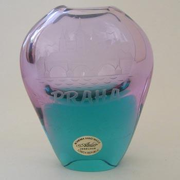 Atelier Veselous Czech Lilac + Turquoise Glass Vase