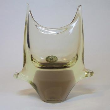 Czech Zelezny Brod Amber Glass Vase - Miloslav Klinger