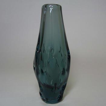 Zelezny Brod Czech Blue Glass Vase - Miloslav Klinger