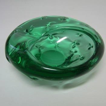 Zelezny Brod Sklo ZBS Czech Green Glass Bowl
