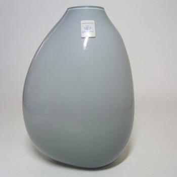 Schott Zwiesel German Large Grey Cased Glass Vase - Labelled