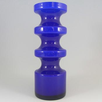 Alsterfors #S5014 Blue Cased Glass Vase Signed Per Olof Strom '70