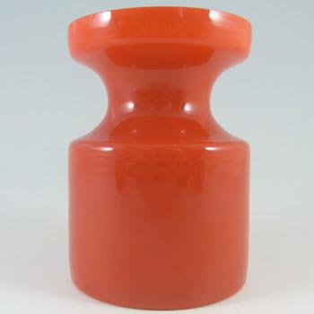 Alsterfors #S5014 Red Cased Glass Vase Signed Per Olof Strom '68