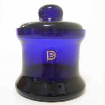 Dartington #FT181/4 Bristol Blue Glass Frank Thrower Bowl