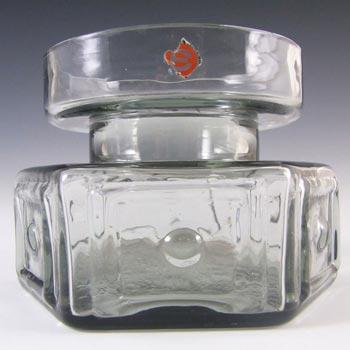 Dartington #FT88 Frank Thrower Glass Panel + Spot Vase