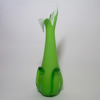 Cristalleria Fratelli Betti/Alrose Italian Empoli Glass Vase