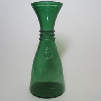 Empoli Verde Italian Green Glass Vase - Marked