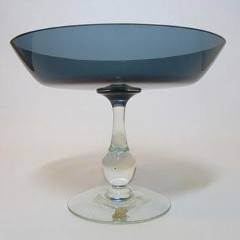 Gullaskruf Kjell Blomberg Swedish Blue Glass Bowl Labelled