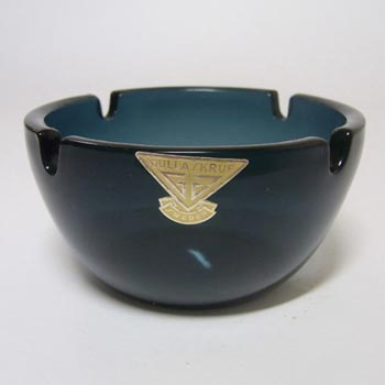 Gullaskruf Smokey Blue Swedish Glass Bowl - Labelled