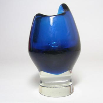Harrachov Czech Blue Glass Vase by Milan Metelak