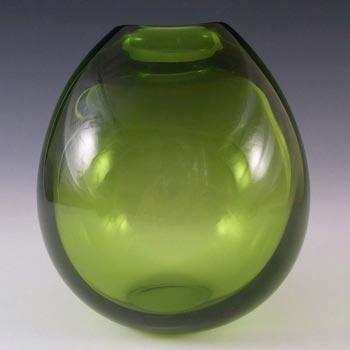 Holmegaard #15470 Per Lutken Green Glass 'Majgrøn' Vase - Signed