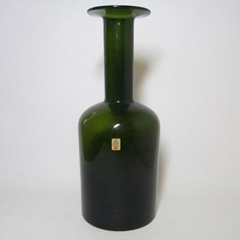 Holmegaard Otto Brauer Green Glass Gulvvase / Gul Vase