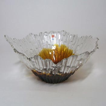 Humppila Amber Glass 'Revontulet' Bowl - Tauno Wirkkala