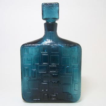 Empoli Italian Blue Textured Glass Decanter/Bottle