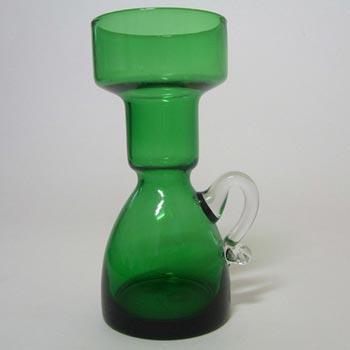 Japanese 'Best Art Glass' Green Glass Vase - Labelled