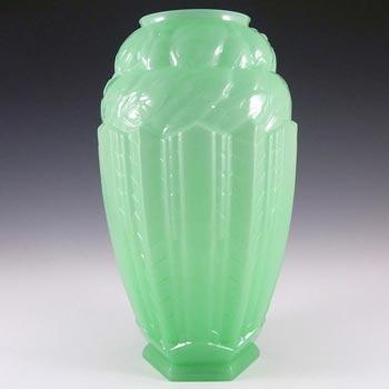 Jobling #B1 RARE 1930's Art Deco Uranium Glass 'Lambton' Vase