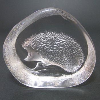 Mats Jonasson #3366 Glass Hedgehog Paperweight - Signed