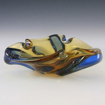 Mstisov Czech Glass Pizzicato Bowl by Hana Machovská