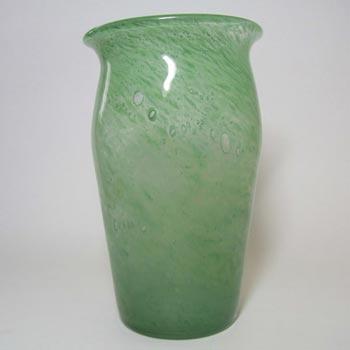 Stevens + Williams/Royal Brierley Clouded Green Glass Vase